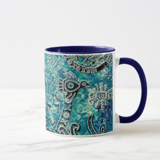 Aztec blues Combo Mug