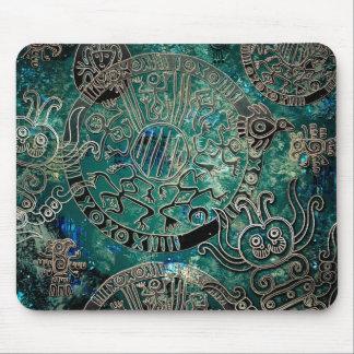 Aztec blues Mousepad
