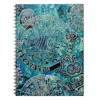 Aztec blues Photo Notebook (80 Pages B&W)