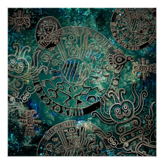 Aztec blues  Poster Paper (Semi-Gloss) Perfect Poster