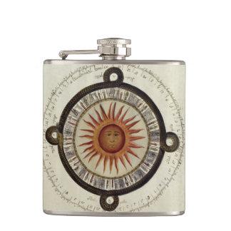 Aztec Calendar Hip Flask