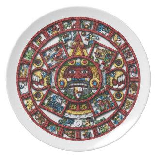 Aztec Calendar Plate