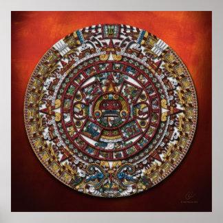 Aztec Calendar Poster