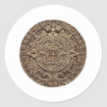 Aztec Calender Classic Round Sticker
