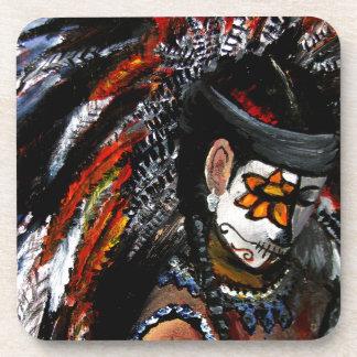 Aztec celebration coaster