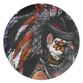 Aztec celebration party plates