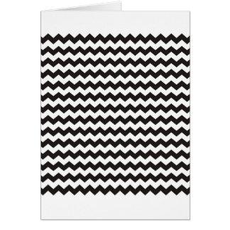 Aztec Chevron black and white zigzag stripes Card