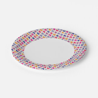 Aztec Chevron colorful pattern 7 Inch Paper Plate
