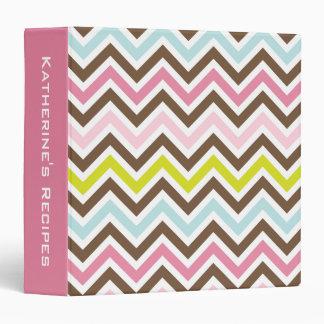 Aztec Colors - Chic Chevron Zigzag Pattern Binder
