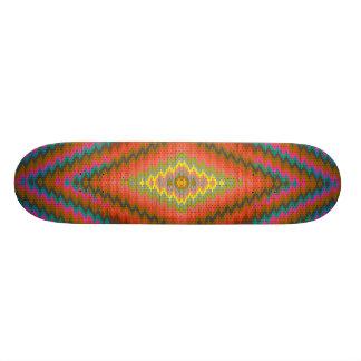 Aztec cool geometric design skateboard deck