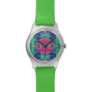 Aztec cool geometric design wrist watch