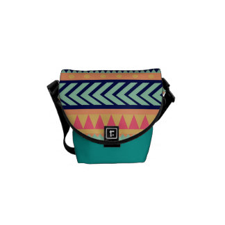 Aztec design pattern messenger bag