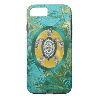 Aztec Emblem Sea Turtle iPhone 7 Case