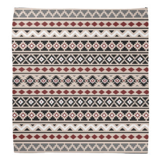 Aztec Essence II Ptn Black White Grey Red Sand Bandana