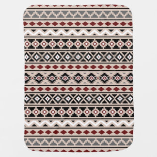 Aztec Essence II Ptn (H) Black White Grey Red Sand Baby Blanket