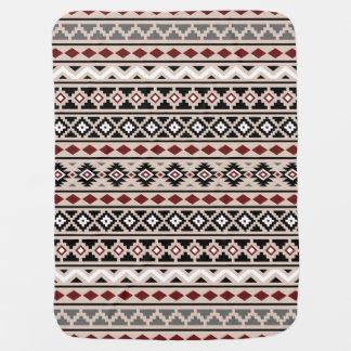 Aztec Essence II Ptn (H) Black White Grey Red Sand Stroller Blanket