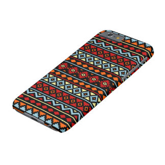 Aztec Essence II Ptn Red Blue Orange Yellow Blk Barely There iPhone 6 Case