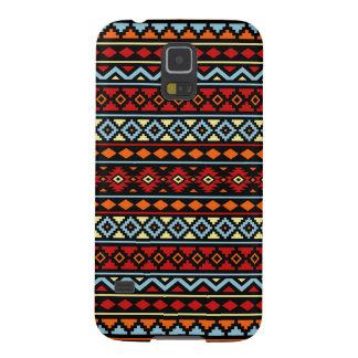 Aztec Essence II Ptn Red Blue Orange Yellow Blk Galaxy S5 Cover