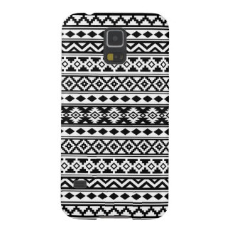 Aztec Essence Pattern IIb Black & White Case For Galaxy S5