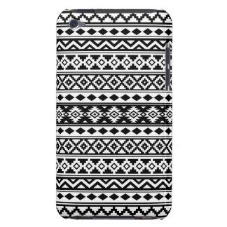 Aztec Essence Pattern IIb Black & White iPod Touch Case