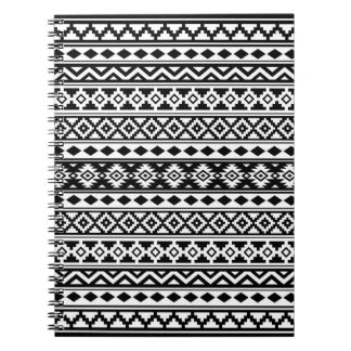Aztec Essence Pattern IIb Black & White Notebook