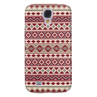Aztec Essence Pattern IIb Red Grays Cream Sand