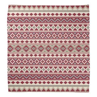 Aztec Essence Pattern IIb Red Grays Cream Sand Bandana
