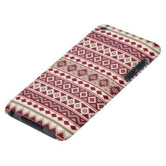 Aztec Essence Pattern IIb Red Grays Cream Sand Case-Mate iPod Touch Case