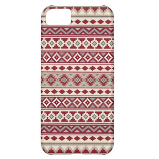 Aztec Essence Pattern IIb Red Grays Cream Sand Cover For iPhone 5C