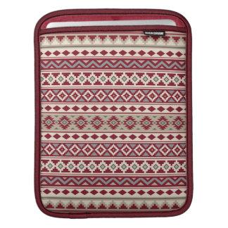 Aztec Essence Pattern IIb Red Grays Cream Sand iPad Sleeve