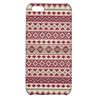 Aztec Essence Pattern IIb Red Grays Cream Sand iPhone 5C Cases