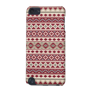 Aztec Essence Pattern IIb Red Grays Cream Sand iPod Touch 5G Cover