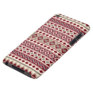 Aztec Essence Pattern IIb Red Grays Cream Sand iPod Touch Case