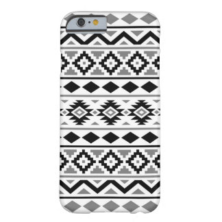 Aztec Essence Pattern III Black White Gray Barely There iPhone 6 Case