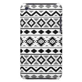 Aztec Essence Pattern III Black White Gray Barely There iPod Cover