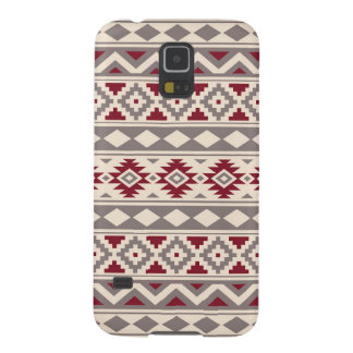Aztec Essence Pattern IIIb Cream Taupe Red Case For Galaxy S5