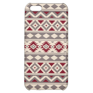 Aztec Essence Pattern IIIb Cream Taupe Red Cover For iPhone 5C