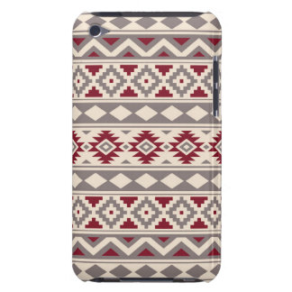 Aztec Essence Pattern IIIb Cream Taupe Red iPod Case-Mate Case