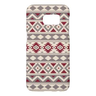 Aztec Essence Pattern IIIb Cream Taupe Red Samsung Galaxy S7 Case