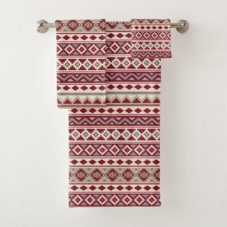 Aztec Essence Ptn IIb Red Grays Cream Sand Bath Towel Set