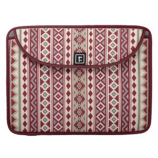 Aztec Essence Ptn IIb Red Grays Cream Sand Sleeve For MacBook Pro