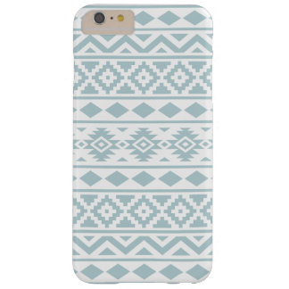 Aztec Essence Ptn III Duck Egg Blue on White Barely There iPhone 6 Plus Case