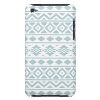 Aztec Essence Ptn III Duck Egg Blue on White Barely There iPod Case