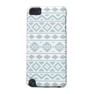 Aztec Essence Ptn III Duck Egg Blue on White iPod Touch 5G Cover