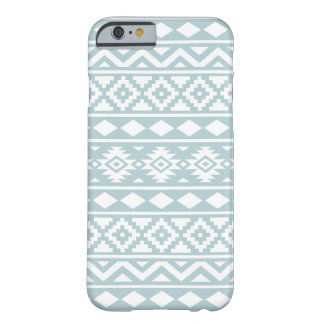 Aztec Essence Ptn III White on Duck Egg Blue Barely There iPhone 6 Case
