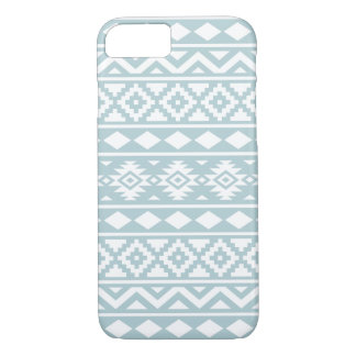 Aztec Essence Ptn III White on Duck Egg Blue iPhone 8/7 Case