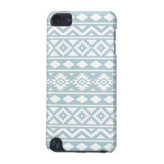 Aztec Essence Ptn III White on Duck Egg Blue iPod Touch (5th Generation) Cover