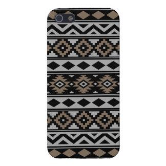 Aztec Essence Ptn IIIb Black Gray Brown iPhone 5 Cover