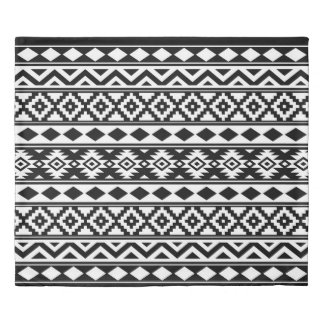 Aztec Essence Ptn IIIb Black & White Duvet Cover
