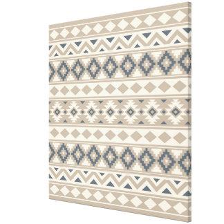 Aztec Essence Ptn IIIb Blue Cream Sand Canvas Print